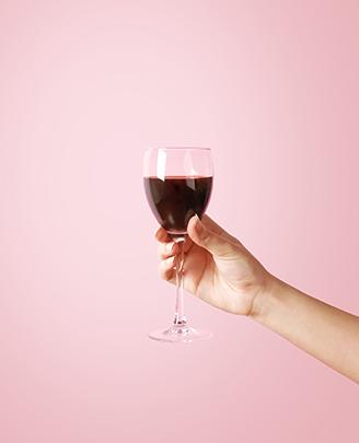 Glas rode wijn