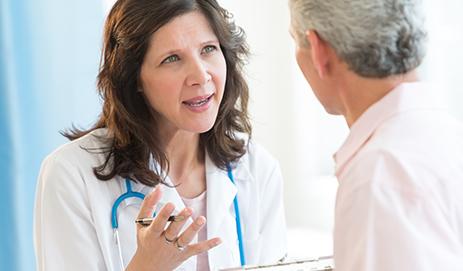 In gesprek met een arts