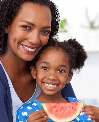 Moeder en dochter gezonde leefstijl