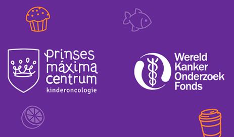 Logo's Prinses Maxima Centrum en WKOF