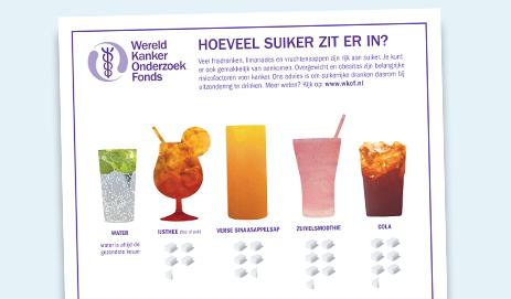 Poster suikerrijke dranken