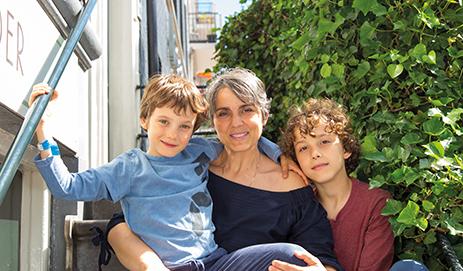 Fabiana met haar kinderen