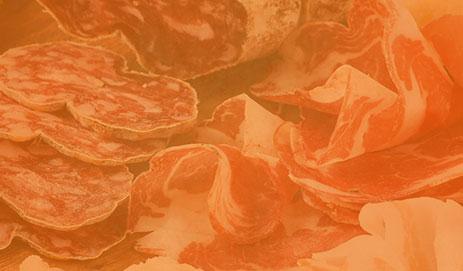 Bewerkt vlees in oranje kader