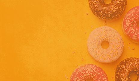 Donuts in oranje kader