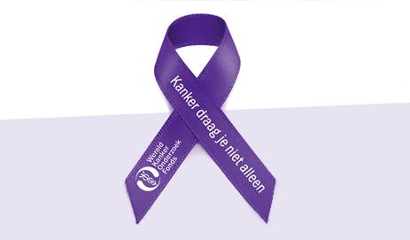 Paars lintje Wereld Kanker Onderzoek Fonds