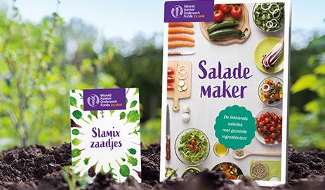 Salade maker en zakje slamix zaadjes