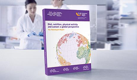 Omslag van expert rapport Wereld Kanker Onderzoek Fonds