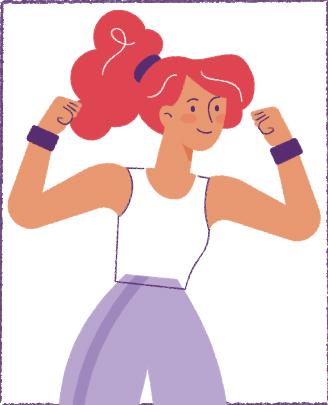 Illustratie van sportende dame