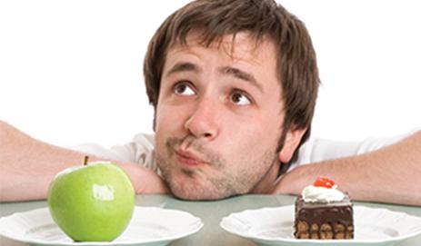 Man kiest tussen appel en cake