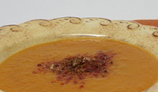Winterse paprika-pompoensoep