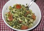 Snelle pasta met champignons, spinazie en tomaat