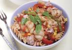 Snelle pasta met tonijn en mais