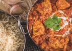 Indiase curry met kalkoen en kikkererwten