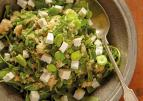 Quinoa salade met tuinbonen en feta