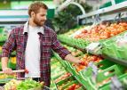 Meneer in de supermarkt